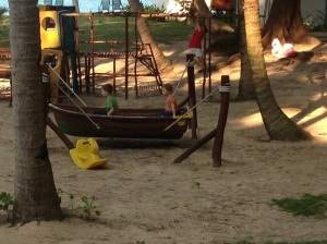The playground at Sea Gypsy Resort.