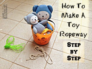 How to make a toy ropeway, step by step (and other searching questions).
