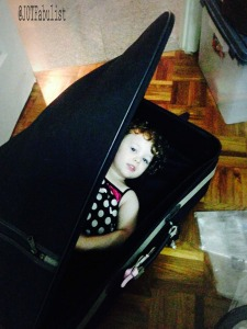 Fig 3: A typical three-year-old packs a suitcase.